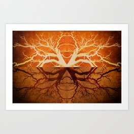 Tree Reflection of Copper Art Print