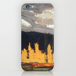 Tom Thomson - Tamarack Swamp - Canada, Canadian Oil Painting - Group of Seven iPhone Case
