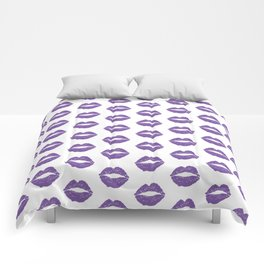 Purple Lips Comforters