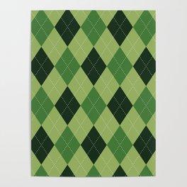 Argyle greens Poster