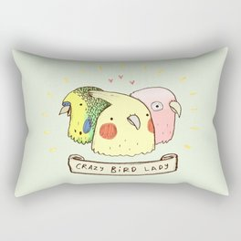 Crazy Bird Lady Rectangular Pillow