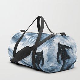 Snowboarder in 100km Blower Duffle Bag