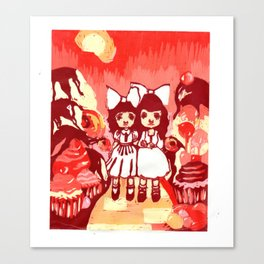 Lollipop Girls. Canvas Print