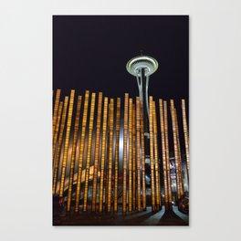 Seattle Bamboo Canvas Print