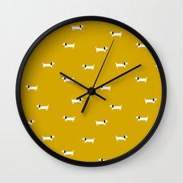 Dog dachshund pattern Wall Clock