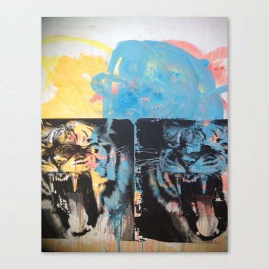 YAWNING TIGER Canvas Print