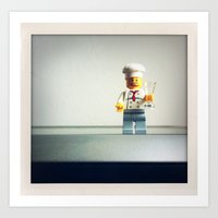 chef Art Prints featuring Chef by Christian Anderl