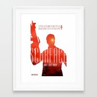 scarface Framed Art Prints featuring Scarface by Duke Dastardly