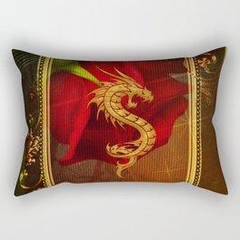 Wonderful chinese dragon, gold colors Rectangular Pillow