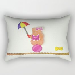 Sally on the tightrope Rectangular Pillow