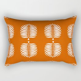 TROPICAL PALMS . ORANGE + WHITE Rectangular Pillow