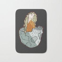 Girl in the skull ( digital illustration) Bath Mat