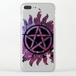 Supernatural Castiel Clear iPhone Case