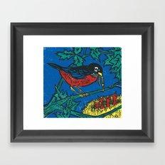 Robin's Nest Framed Art Print