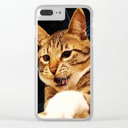 Jump Cat Clear iPhone Case