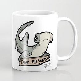Save All Sharks (says Bonnie!) Coffee Mug