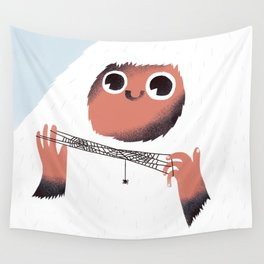 Yeti and spider. Wall Tapestry