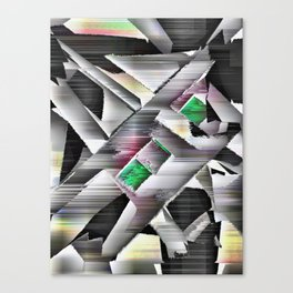 Emeralds in Industrial Design Canvas Print