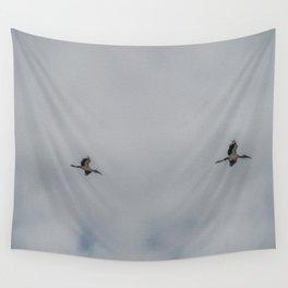 Woodstorks in Flight Wall Tapestry