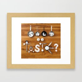 Salt To Taste Framed Art Print