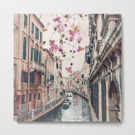 Venice Floral Sky Metal Print
