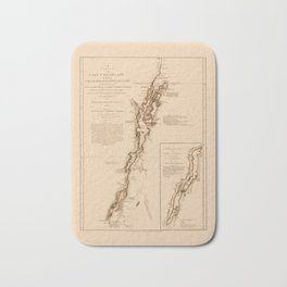 1770s Maps: Lakes Champlain and George (adapted) Bath Mat