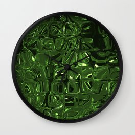 green cells Wall Clock