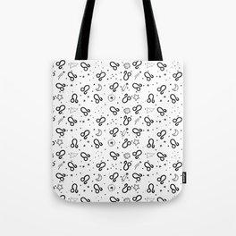 Leo zodiac sign hand drawn seamless pattern Tote Bag