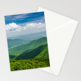 A Splendid View of the Blue Ridge Mountains Stationery Cards