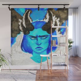 Devil With A Blue Face On Wall Mural