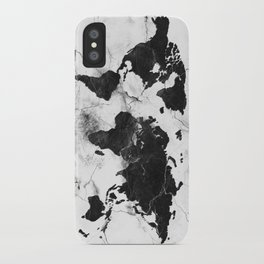world map marble 3 iPhone Case