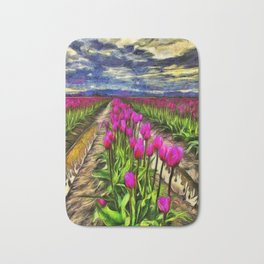 Pink Impression 2 - Digital Painting Bath Mat