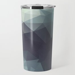 Polygon pattern . Triangles with a texture craquelure . 2 Travel Mug