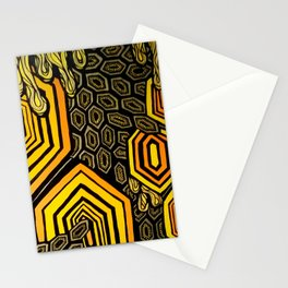 Hexagonal Reflections of an Empty Hive Stationery Cards