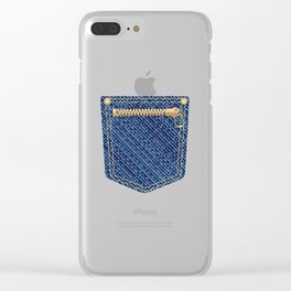 Zipper Pocket Clear iPhone Case