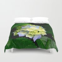 hydrangea Duvet Covers featuring Hydrangea  by Chris' Landscape Images & Designs