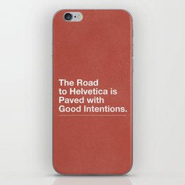The Road to Helvetica iPhone Skin
