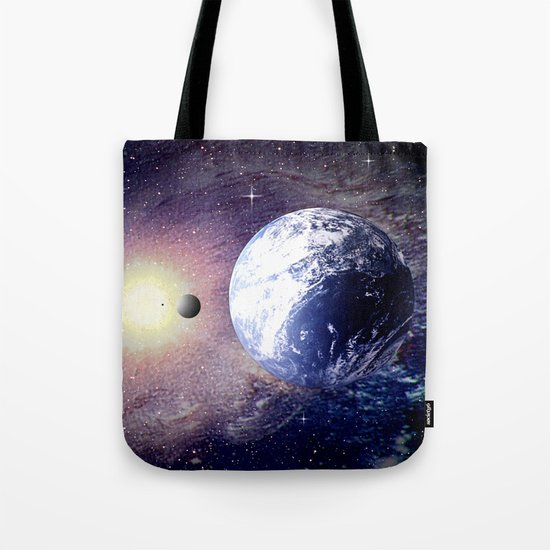 Space and Earth. Tote Bag