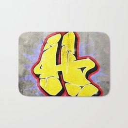 H - Graffiti letter (Wild Style) Bath Mat