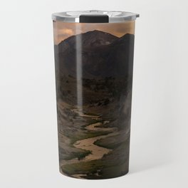 Hot Creek Sunset in the Sierras Travel Mug