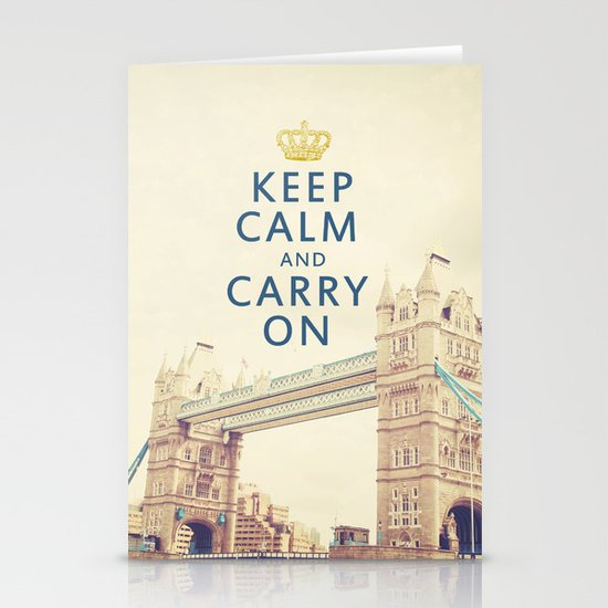 Keep Calm London Stationery Cards
