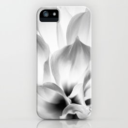 Dahlia in black and white iPhone Case