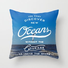 Discover New Oceans Throw Pillow