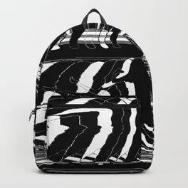Black & White Glitch Backpack
