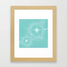 Fleur de Nuit in Aqua Tone Framed Art Print