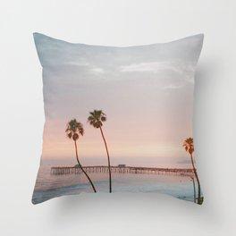 palm trees sunset vi / san clemente, california Throw Pillow