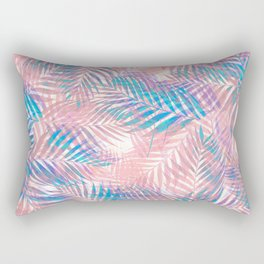 Palm Leaves - Iridescent Pastel Rectangular Pillow