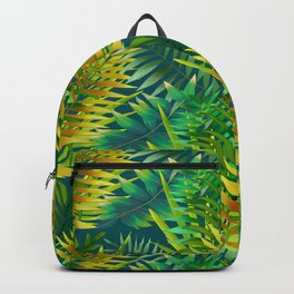 Green foliage green background  Backpack