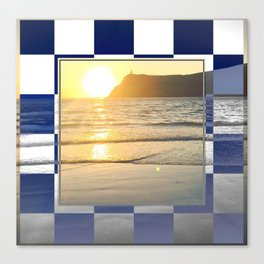 Port Erin - check graphic Canvas Print