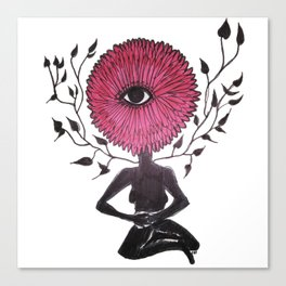 Divine Flower Woman Canvas Print